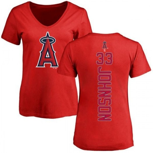 Jim Johnson Los Angeles Angels of Anaheim Women's Red Backer Slim Fit T-Shirt -