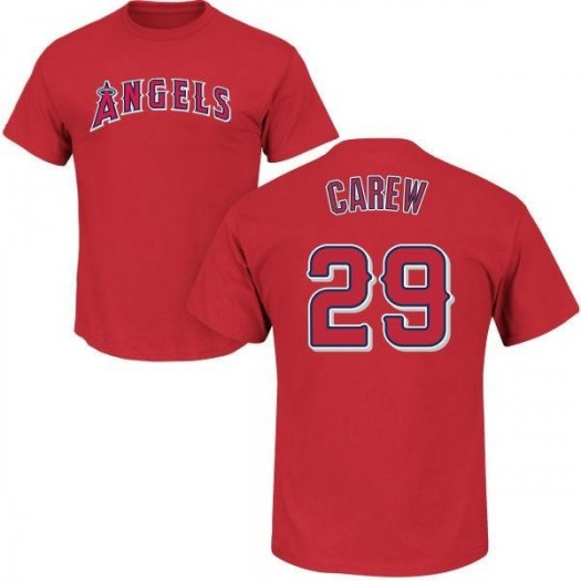 Rod Carew Los Angeles Angels of Anaheim Men's Red Roster Name & Number T-Shirt -